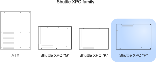 Illustration of Shuttle P relative to other standards